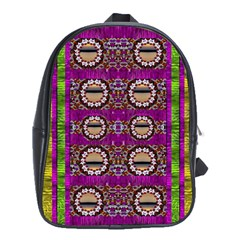 Rainbow Love For The Nature And Sunset In Calm And Steady State School Bags (xl)  by pepitasart
