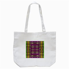 Rainbow Love For The Nature And Sunset In Calm And Steady State Tote Bag (white) by pepitasart