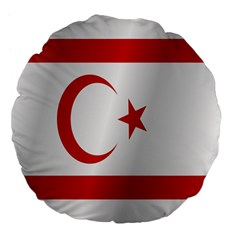 Flag Of Northern Cyprus Large 18  Premium Flano Round Cushions by artpics