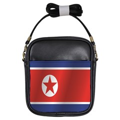 Flag Of North Korea Girls Sling Bags by artpics