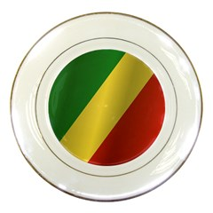 Flag Of Republic Of The Congo Porcelain Plates by artpics