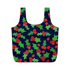 Holly Jolly Christmas Full Print Recycle Bags (m)  by BubbSnugg