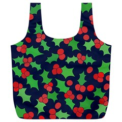 Holly Jolly Christmas Full Print Recycle Bags (l)