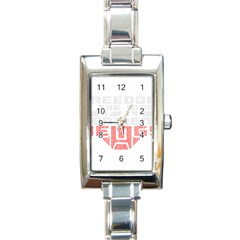 Freedom Is The Right Grunge Rectangle Italian Charm Watch by justinwhitdesigns