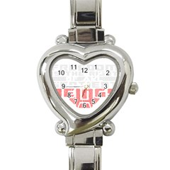 Freedom Is The Right Grunge Heart Italian Charm Watch by justinwhitdesigns