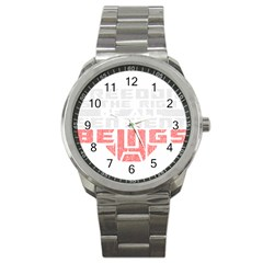 Freedom Is The Right Grunge Sport Metal Watch by justinwhitdesigns