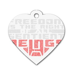 Freedom Is The Right Grunge Dog Tag Heart (two Sides) by justinwhitdesigns