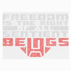 Freedom Is The Right Grunge Large Glasses Cloth (2 Side) by justinwhitdesigns