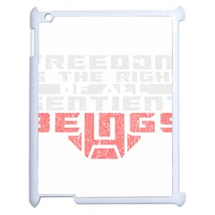 Freedom Is The Right Grunge Apple Ipad 2 Case (white) by justinwhitdesigns