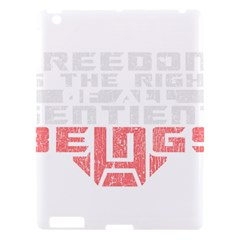 Freedom Is The Right Grunge Apple Ipad 3/4 Hardshell Case by justinwhitdesigns