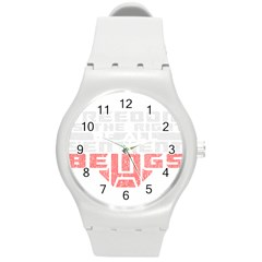 Freedom Is The Right Grunge Round Plastic Sport Watch (m) by justinwhitdesigns