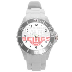Freedom Is The Right Grunge Round Plastic Sport Watch (l) by justinwhitdesigns