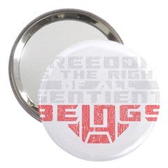 Freedom Is The Right Grunge 3  Handbag Mirrors by justinwhitdesigns