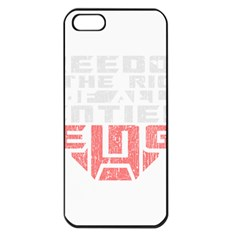 Freedom Is The Right Grunge Apple Iphone 5 Seamless Case (black) by justinwhitdesigns