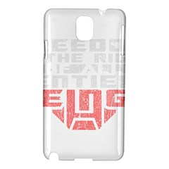 Freedom Is The Right Grunge Samsung Galaxy Note 3 N9005 Hardshell Case by justinwhitdesigns