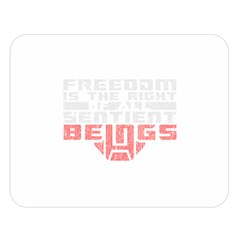Freedom is the Right GRUNGE Double Sided Flano Blanket (Large)  by justinwhitdesigns