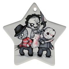 Horror Trifecta Plushie  Star Ornament (two Sides)  by lvbart