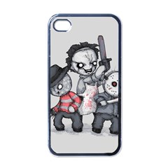 Horror Trifecta Plushie  Apple Iphone 4 Case (black) by lvbart