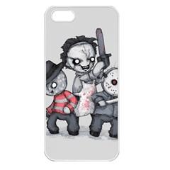 Horror Trifecta Plushie  Apple Iphone 5 Seamless Case (white) by lvbart