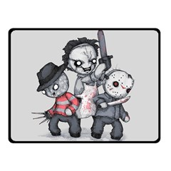 Horror Trifecta Plushie  Double Sided Fleece Blanket (Small)  by lvbart