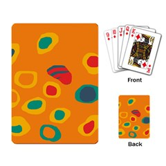 Orange Abstraction Playing Card by Valentinaart