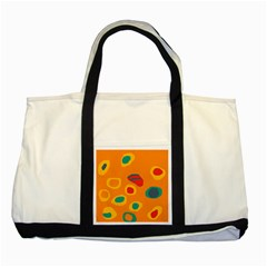 Orange Abstraction Two Tone Tote Bag by Valentinaart