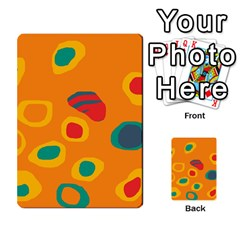 Orange Abstraction Multi Purpose Cards (rectangle)  by Valentinaart