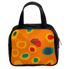 Orange Abstraction Classic Handbags (2 Sides)