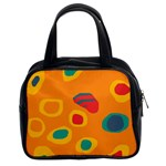 Orange abstraction Classic Handbags (2 Sides) Front