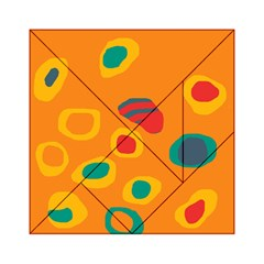 Orange Abstraction Acrylic Tangram Puzzle (6  X 6 ) by Valentinaart