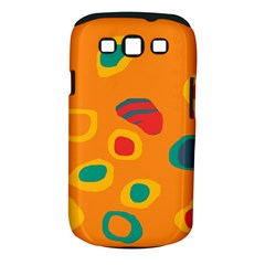 Orange Abstraction Samsung Galaxy S Iii Classic Hardshell Case (pc+silicone) by Valentinaart