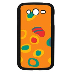 Orange Abstraction Samsung Galaxy Grand Duos I9082 Case (black) by Valentinaart