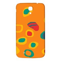Orange Abstraction Samsung Galaxy Mega I9200 Hardshell Back Case by Valentinaart