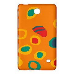 Orange abstraction Samsung Galaxy Tab 4 (8 ) Hardshell Case  by Valentinaart