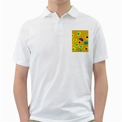 Yellow Abstraction Golf Shirts by Valentinaart
