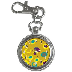 Yellow Abstraction Key Chain Watches by Valentinaart