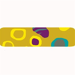 Yellow Abstraction Large Bar Mats by Valentinaart