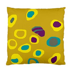 Yellow Abstraction Standard Cushion Case (one Side) by Valentinaart
