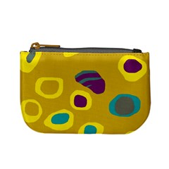 Yellow Abstraction Mini Coin Purses by Valentinaart