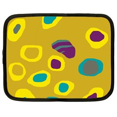 Yellow Abstraction Netbook Case (xxl)  by Valentinaart