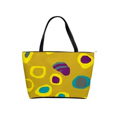 Yellow Abstraction Shoulder Handbags by Valentinaart