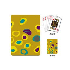 Yellow Abstraction Playing Cards (mini)  by Valentinaart