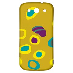Yellow Abstraction Samsung Galaxy S3 S Iii Classic Hardshell Back Case by Valentinaart