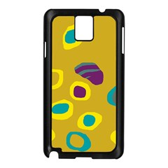 Yellow Abstraction Samsung Galaxy Note 3 N9005 Case (black) by Valentinaart