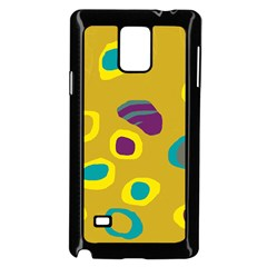 Yellow Abstraction Samsung Galaxy Note 4 Case (black) by Valentinaart