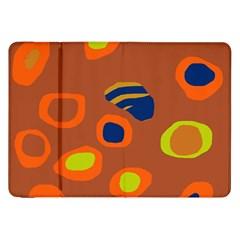 Orange Abstraction Samsung Galaxy Tab 8 9  P7300 Flip Case by Valentinaart