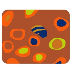 Orange Abstraction Double Sided Flano Blanket (medium)  by Valentinaart