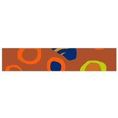 Orange Abstraction Flano Scarf (small) by Valentinaart