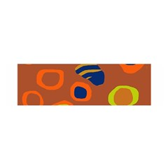 Orange Abstraction Satin Scarf (oblong) by Valentinaart