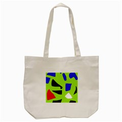 Green Abstraction Tote Bag (cream) by Valentinaart